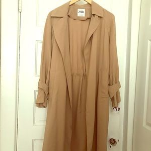 ZARA Oversized trench coat in Camel